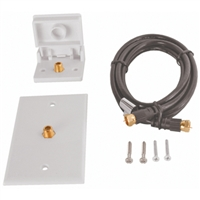 RV Designer T201 Tv Hook Up Kit-White