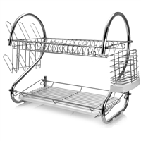 Megachef Dr-117 22 Inch Two Shelf Dish Rack