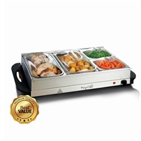Megachef Mc-9003C Buffet Server And Food Warmer 4 Removable Sectional Trays