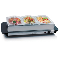 Megachef Mc-9003B Buffet Server And Food Warmer 3 Removable Sectional Trays