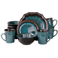 Elama El-Mysticwaves Elama&Rsquo;S Mystic Waves 16 Piece Dinnerware Set