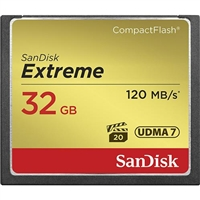 Sandisk Sdcfxs-032G-A46 Extreme Compactflash Memory Card 32Gb 120 Mbps