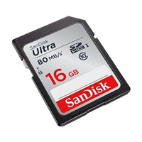 Sandisk Sdsdunc-016G-An6In Ultra Sdhc Memory Card 16Gb Class 10/Uhs-I 80Mb/S