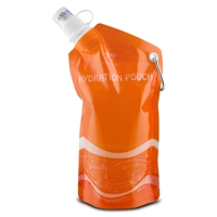 Eco-Highway Ehm8009-600-Org Hydration Pouch: Collapsible Reusable 20Oz Water
