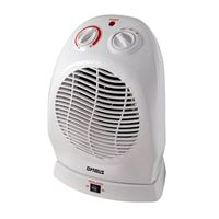 Opti H-1382-Rb Portable Oscillating Fan Heater Thermostat