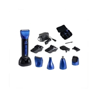 Optimus 50150 15 Piece Wet/Dry Multi-Use Clipper And Trimmer Blue/Black By