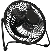 Optimus F-4040-Bk 4 In. Personal Metal Fan In Black