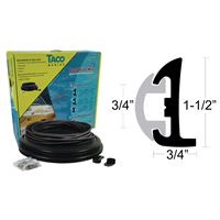 Taco Marine V11-9795Bbk50D-2 Semi-Rigid Rub Rail Kit Black Black Insert 50'