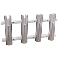 Taco Marine F31-3104Bxz-1 Aluminum/Poly 4-Rod Rack Holder