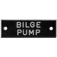 Bernard Engraving IP002 Nameplate Inbilge Pumpsin Pkg5