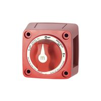 Blue Sea Systems 6006 M-Series Mini Battery Switch Single Circuit On/Off Red