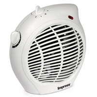 Impress Im-701 Dual Setting Fan Heater Adjustable Thermostat