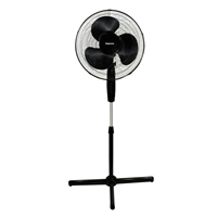 Impress Im-717B Handi-Fan 16 Inch Oscillating Stand Fan- Black
