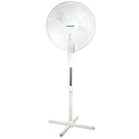 "Impress Im-724W 16"" Oscillating Stand Fan White"