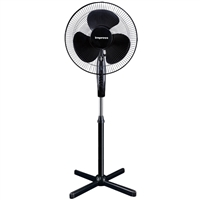 "Impress Im-725B 16"" Oscillating Stand Fan Black"