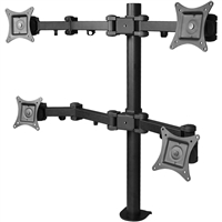 SIIG INC. CE-MT0S12-S1 QUAD MONITOR FULL-MOTION DESK MOUNT -INDEPENDENTLY TILT