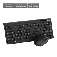 SIIG INC. JK-WR0S12-S1 LOW PROFILE ULTRACOMPACT WIRELESS MINISIZE KEYBOARD AND