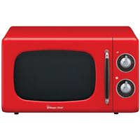 Magic Chef MCD770CR 0.7 cf 700W Microwave Oven Red