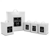 Megachef Mg-416 Kitchen Food Storage And Organization 5 Piece Canister Set In