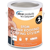 Dicor RP-CRC-1 Wht Rubr Roo Acry Coating Gl