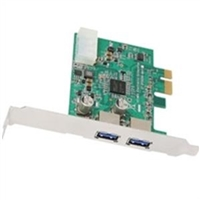 AcomData ADPU3-PCIX IO Card SuperSpeed USB3 2Port PCI Express Retail