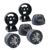 "Power Acoustik Nb-4 1"" Piezo Tweeters Pair 250 Watts Max 4-Way Mount"