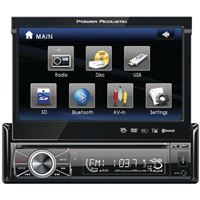 "Power Acoustik Ptid8920B 7"" Motorized Fiip-Out Monitor Bluetooth"