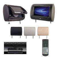 "Power Acoustik Hdvd71Cc 7"" Headrest Monitor 3-Color Skins Lcd/Dvd Usb/Sd Sold"