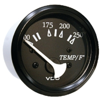 Seachoice 50-15291 250F Engine Temp Gage Blk/Blk