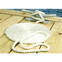 Seachoice 42571 Nylon Dock Line Wh 1/2X25 Clam