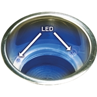 Seachoice 79371 Ss Blue Led Drink Hold Drain