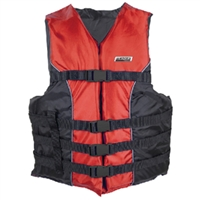 Seachoice 3440-RED-4X/5X-85400 4-Belt Ski Vest Red 4Xl/5Xl