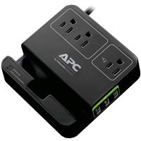 Apc P3U3B Essential Surgearrest 3-Outlets 120V 3 Usb Charging Ports Black