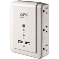 APC P6WU2 Power Strip Essential SurgeArrest 6 Outlet Wall Mount USB 120V Retail