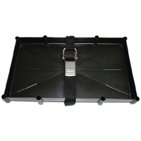 T-H Marine NBH27SSCDP Battery Tray W-Stainless Ste