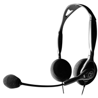Andrea Electronics C1-1023200-1 Nc-125 Noise Canceling Stereo Pc Headset Dual