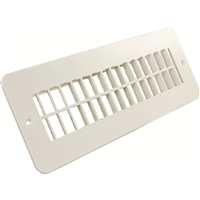 JR Products 288-86-A-PW-A 2X10In Plstc Flr Reg Undamp Pw