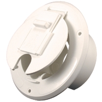 JR Products S-23-14-A Round Cable Hatch Of Wht