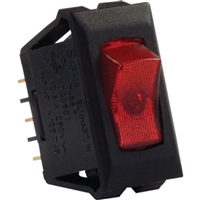 JR Products 12515 Illumintd 120V On/Off Sw Rd/Bl