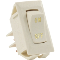 JR Products 12615 Labeled 12V On/Off Swtch Ivory