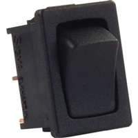 JR Products 12815 Mini 12V Mom-On/Off Switch Blk
