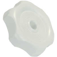 JR Products 20355 Window Knob W1/2Inshaftwht.