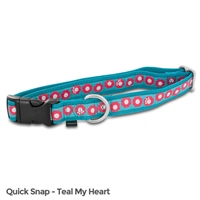 Petsafe Fin-Qsc-L-1-Tea Fido Finery Quick Snap Collar Large Teal My Heart
