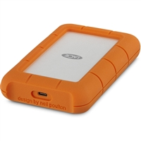 Seagate Lacie Stfr2000403 Rugged Secured 2Tb Usb-C Portable Hard Drive Orange
