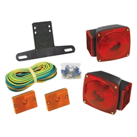 "Wesbar 2823285 Under 80"" Combination Trailer Light Kit Sidemarkers"