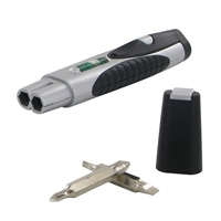Kc-055 Deluxe 3 In 1 Pocket Multi Tool- Level Flashlight And Interchangeable