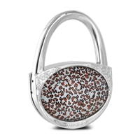 Pursfection Pfhh Chrlep Design Folding Handbag Purse Hook Hanger Leopard