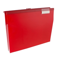 Wilson Jones W68206R Slide-Bar File Jacket Cd Holder Red