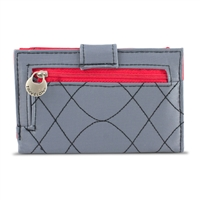 Travelon 22996-510 Safeid Embroidered Tri-Fold Rfid Wallet Gray/Scarlet