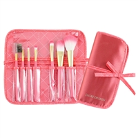 Jacki Design Fyd33105Co Vintage Allure 7 Pc Make Up Brush Set And Bag Coral